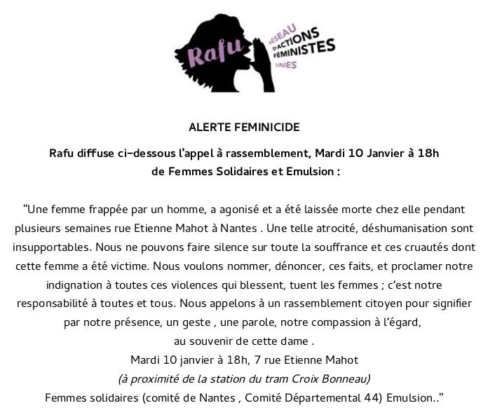RAFU appel à rassemblement mardi 10 janvier 2017 texte